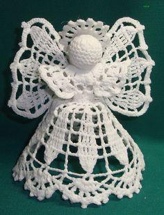 Crochet Angel Pattern, Crochet Angels, Crochet Doily Patterns, Crochet Doilies, Crochet Christmas Ornaments, Christmas Crochet Patterns, Angel Ornaments, Crochet Flower Squares, Crochet Flowers