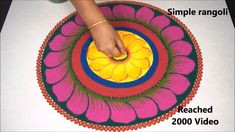 Simple Rangoli Design Without using Dots Rangoli Designs Peacock, Indian Rangoli Designs, Rangoli Designs Latest, Rangoli Border Designs, Rangoli Designs With Dots, Beautiful Rangoli Designs, Mehndi Designs, Simple Rangoli Kolam, Rangoli Ideas