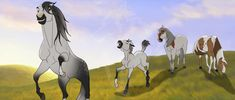 Spirit was one of my favorite cartoons growing up Spirit The Horse, Spirit And Rain, Horse Drawings, Animal Drawings, Pretty Horses, Beautiful Horses, Disney Horses, Horse Animation, Horse Movies