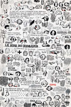 Jochen Gerner •  Branchage, 2003-2008, tech. mixte sur papier, 21 x 15 cm Galerie Anne Barrault