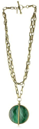 """Paige Novick """"Vail"""" Layered Chain Stone Medallion « Holiday Adds"""
