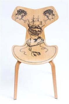 Homeward Bound - Fritz Hansen Grand Prix chair, tattoo by Pietro Sedda for Fantastic Wood project by Diego Grandi. On auction for Dynamo Camp http://www.charitystars.com/auctions?tid=565
