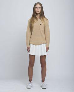 Tan Pocket Sweater