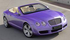 Purple Bentley Continental