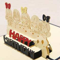white-red-and-black-color-Handmade-Pop-Up-Birthday-Cards-For-friends #3dcards…