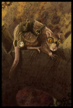 Tinker SteamPunk Rat by lizspit in Showcase Of Incredible Steampunk Artworks