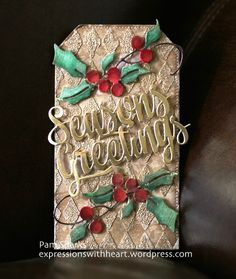 Stamping with Loll: Twelve Tags of Christmas . Wrap-Up Christmas Card Crafts, Christmas Wrapping, Christmas Tag, Christmas Ornaments, Christmas Ideas, Xmas, New Years Eve Day, Happy New Years Eve, Holiday Gift Tags