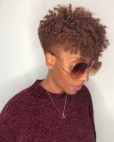 Fall Hairstyles For Black Women: Get Inspired To Style Your Hair Short Hair Twist Styles, Short Natural Styles, Natural Hair Short Cuts, Natural Hair Styles For Black Women, Curly Hair Styles, Natural Tapered Cut, Plait Styles, Natural Hair Twist Styles, Natural Haircut Styles