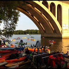 Rent kayaks, canoes, or stand-up paddle boards and cruise the Potomac River.  Located in the heart of Georgetown, you can rent the above water equipment, or sign up for various lessons and tours.  See all the sights of D.C. by sea.  What was that quote again...one if by land, two if by sea...maybe I should get off my boat and drop by the Archives for a history refresher...