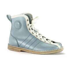 Vintage Bowling Boot Blue White, $365, now featured on Fab.