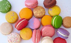 Beautiful Desserts. Macarons are a specialty!