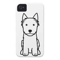 Silky Terrier Dog Cartoon iPhone 4 Cases