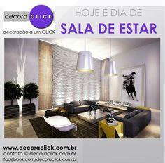 Sala moderna com tijolinhos e objetos decorativos trazendo vida ao ambiente.