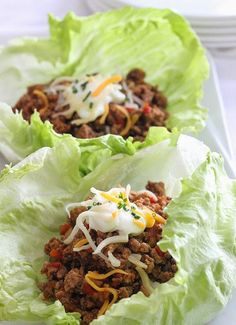 Lettuce Wrap Idea 1 lbs 99% lean ground turkey 1 tsp garlic powder 1 tsp cumin 1 tsp salt 1 tsp chili powder 1 tsp paprika 1/2 tsp oregano 1/2 small onion, minced 2 tbsp bell pepper, minced 3/4 cup water 4 oz can tomato sauce 8 Romaine lettuce leaves Brown turkey add dry seasoning an mix well. Add the onion, pepper, water and tomato sauce and cover. Simmer about 20 minutes. Divide the meat equally between the 8 leaves and place in the center of each leaf and top with your favorite taco…