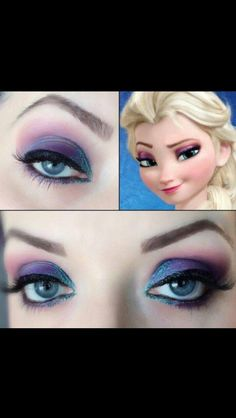 Else Eye Make-Up -- great for a Frozen themed costume
