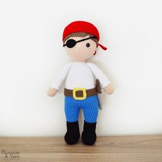 Amigurumipatterns.net has the biggest collection of Amigurumi patterns. Click and discover Ben the Friendly Pirate!