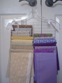 Fabric Organization that Hangs