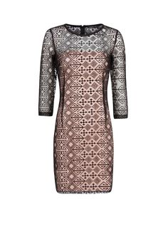 Robe maille broderies ethniques. Mango.