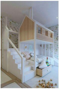 Bunk Bed Designs, Kids Bedroom Designs, Kids Bedroom Sets, Kids Room Design, Bedroom Ideas, Bed Ideas, Bedroom Decor, Bedroom Lighting, Bedroom Boys