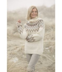 Kathrine genser i str. L til XXL - Viking of Norway Camilla, Ravelry, Chevron, Drops Baby, Alpacas, Baby Alpaca, Vikings, Vest, Beanie