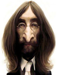 Caricature John Lennon - www.remix-numerisation.fr - Rendez vos souvenirs…