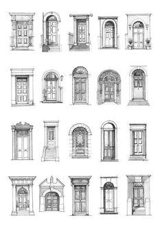 Interior Architecture Drawing, Architecture Drawing Sketchbooks, Architecture Concept Drawings, House Architecture, Landscape Architecture, Classical Architecture, Watercolor Architecture, Georgian Architecture, Minimal Architecture
