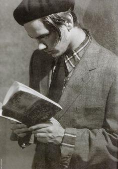 River Phoenix reading Tolstoy, 1991, Bruce Weber