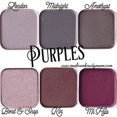 Maskcara Beauty Eyeshadow Shades in Purple !! Highly pigmented, buildable, blend able colors! Shop with FREE shipping @ www.maskcarabeautymama.com