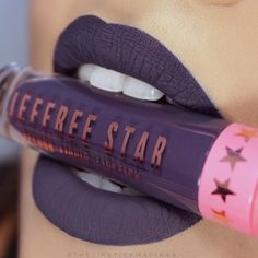 Jeffree Star Abused Velour Liquid Lipstick oz NIB for sale online Makeup Goals, Love Makeup, Makeup Tips, Beauty Makeup, Makeup Ideas, Jeffree Star Liquid Lipstick, Bold Lipstick, Star Makeup, Lip Art