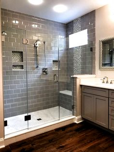 53 Cozy Farmhouse Master Bathroom Remodel Ideas Finding the right Small Bathroom Remodel ideas is tricky since the bathroom remodel can be challenging.#bathroomremodel #bathroomideas #bathroom decor ideas Bad Inspiration, Bathroom Inspiration, Shower Remodel, Bath Remodel, Restroom Remodel, Master Bathroom Shower, Budget Bathroom, Simple Bathroom, Shower Rooms
