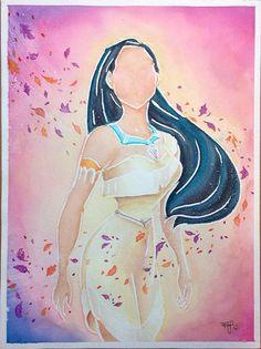 Original 9x12in Disney Princess Pocahontas by BrietronArt on Etsy