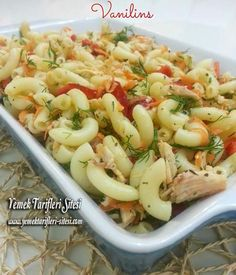 Tavuklu Makarna Salatası Tarifi – Vegan yemek tarifleri – The Most Practical and Easy Recipes Noodle Salad, Pasta Salad, Turkish Recipes, Ethnic Recipes, Pasta Noodles, Cute Food, Pasta Recipes, Macaroni And Cheese, Food And Drink