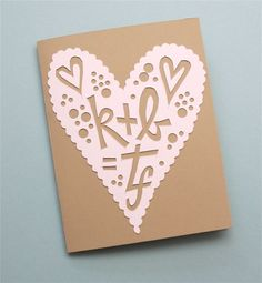 old fashioned papercut card