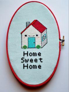 home sweet home cross stitch pdf...so freaking CUTE!!!!