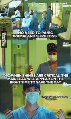 Freaking hero not wearing gloves, you ain't gonna save anyone without your surgical gown and sterile glove dude
