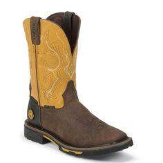 Justin Original Workboots Men's Hybred Waterproof Composition Toe Work Boots
