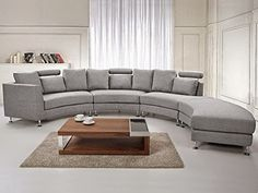 Curved Sofa Website Reviews Mid Century Modern Sectional Grey