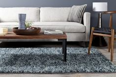 Thick and luxurious, here's is a beautiful modern rug.