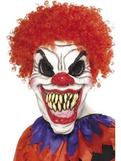 Scary Clown Mask,perfect for the Halloween season. This is truly one of the scariest clown masks you will ever see!