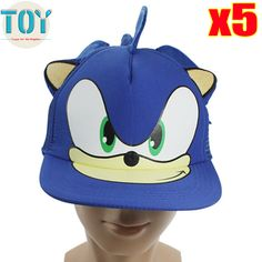 Aliexpress.com   Buy New 5PCS Sonic The Hedgehog Adjustable Baseball Hat  Cartoon Adult Cosplay Blue Cap Brinquedos 55cm Wholesale from Reliable  sonic blue ... 275a50a94e93