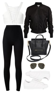 """""""Untitled #700"""" by nicole-matos ❤ liked on Polyvore featuring Valery Kovalska, Dolce&Gabbana, Acne Studios, adidas Originals, CÉLINE and Yves Saint Laurent"""