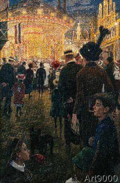 Hans Baluschek - Berliner Rummelplatz