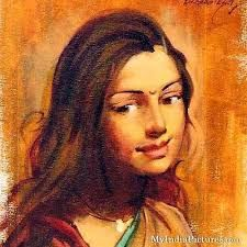 Indian painting, very beautiful! Indian Women Painting, Indian Artist, Indian Artwork, Indian Art Paintings, India Art, Sketch Painting, Painting Art, Woman Painting, Beautiful Paintings