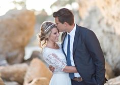 Modest wedding dress with beaded elbow sleeves from alta moda bridal.          --  (modest bridal gown)  --