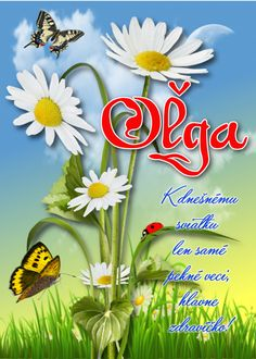 Oľga K dnešnému sviatku len samé pekné veci, hlavne zdravíčko! Flower Aesthetic, Birthday Wishes, Herbs, Flowers, Plants, Planters, Royal Icing Flowers, Flower, Birthday Greetings