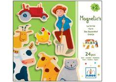 Buntes Magnetset 'Bauernhof' DJECO   Kindershop Das Kleine Zebra