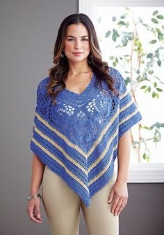 Gorgeous lightweight poncho to dress up or wear casual. Shown in Mocha/Cottonwood or choose any 2 Fresh colors.
