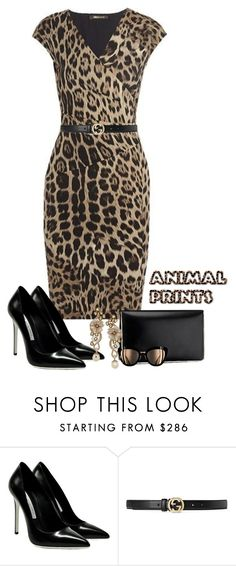 """animal prints"" by daianetavares310 ❤ liked on Polyvore featuring Gianmarco Lorenzi and Gucci"