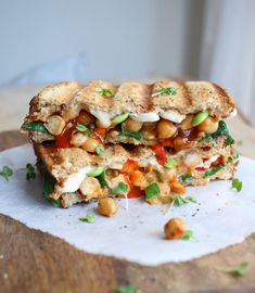 Tasty chickpea and chilli vegan toastie recipe, great for a lunchtime pick me up Wrap Recipes, Veg Recipes, Vegan Recipes Easy, Lunch Recipes, Vegetarian Recipes, Delicious Recipes, Tasty, Vegan Sandwich Filling, Sandwich Fillings
