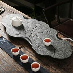Iced Tea Maker, Zen Tea, Japanese Tea Set, Stone Masonry, Lotus Leaves, Tea Culture, Tea Tray, Chawan, Chinese Tea